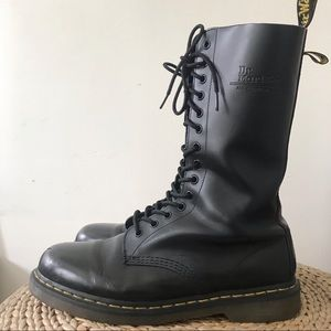 Dr. Martens Shoes - Doc Martens High Leather Lace Combat Boot 10